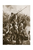 Preston, August 17th 1648: 'At Push of Peke They Were Beaten from the Bridge' Giclee Print by Christopher Clark