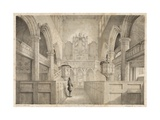 The Interior of St. Peter's, Wolverhampton, Engraved by I. Shaw, 1848 Giclee Print by C. J. Greenwood