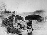 General Grey Fishing at the Bridge of Dee, C.1892 Photographic Print