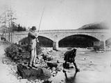 General Grey Fishing at the Bridge of Dee, C.1892 Photographic Print