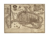 Map of Ayutthaya, 1686 Giclee Print