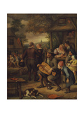 The Hurdy Gurdy Player Giclee Print by Jan Van, The Elder Kessel