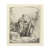 Abraham and Isaac, 1645 Giclee Print by  Rembrandt van Rjin