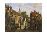 A Street Scene in Delft Giclee Print by Willem Koekkoek