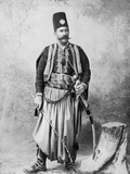 Syrian Man in Traditional Costume and Wearing a Tarboosh, Late 19th Century Photographic Print by Tancrede Dumas