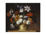 Tulips, Snowballs and Other Flowers in a Sculpted Urn on a Ledge Giclee Print by Pieter Casteels