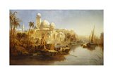 Vessels Moored at the Steps of a Moorish Palace, 1875 Giclee Print by James Webb