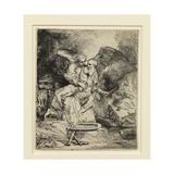 Abraham's Sacrifice, 1655 Giclee Print by  Rembrandt van Rjin