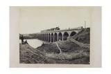 Railway Bridge at Dapoone, India, 1857 Giclee Print by  William Henderson and William Johnson