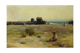 Boy on a Beach, 1884 Giclee Print by Walter Frederick Osborne