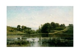 The Pond at Gylieu, 1853 Giclee Print by Charles Francois Daubigny