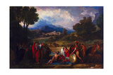 Saul before Samuel and the Prophets, 1812 Giclee Print by Benjamin West