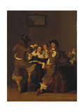 Elegant Figures Drinking and Merrymaking in an Interior, 1653 Lámina giclée por Dirck Hals