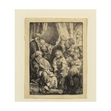 Joseph Telling His Dreams Giclee Print by  Rembrandt van Rijn