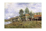 Boatyard at Saint-Mammes, 1886 Giclee Print by Alfred Sisley