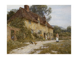 Old Kentish Cottage Giclee Print by Helen Allingham