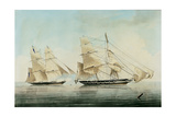 H.M. Brig Black Joke Engaging the Spanish Brig El Almirante Giclee Print by William John Huggins