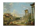 View of Campo Vaccino in Rome, 1740 Impression giclée par Giovanni Paolo Pannini