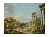 View of Campo Vaccino in Rome, 1740 Giclee Print by Giovanni Paolo Pannini