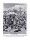 Bear Baiting in Saxon Times, from 'Hutchison's Story of the British Nation', C.1920 Giclee Print by Richard Caton Woodville