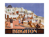 Poster Advertising Travel to Brighton Reproduction procédé giclée par Henry George Gawthorn