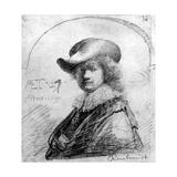 Self Portrait, C.1633 Giclee Print by  Rembrandt van Rjin