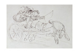 Couple in a Chariot Pulled by a Horse Giclee Print by James Howe