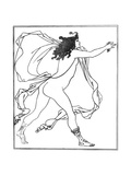 Apollo Pursuing Daphne Giclee Print by Aubrey Beardsley