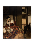 Girl Asleep at a Table, 1656-57 Giclee Print by Jan Vermeer