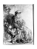 Abraham Holding Young Isaac Giclee Print by  Rembrandt van Rijn