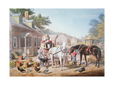 American Scenes: Preparing for Market, Published by N. Currier, 1856 Giclee Print by Louis Maurer