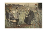 Priest Teaching Children the Catechism, Illustration from 'Le Petit Journal: Supplement… Giclee Print by Jules-Alexis Meunier