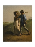 Going to Work, 1851-53 Giclee Print by Jean-François Millet