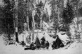 Prince Arthur's Moose Hunting Expedition in Canada, C.1870 Photographic Print