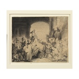 The Triumph of Mordecai, C.1640 Giclee Print by  Rembrandt van Rjin