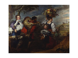Peasants on their Way to Market Giclee Print by  Jan Boeckhorst and Frans Snyders