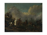 Battle Scene Giclee Print by Philips Wouwermans or Wouvermans