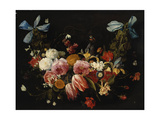 A Swag of Roses, Tulips, Dahlias and Other Flowers Giclee Print by Jan Van, The Elder Kessel