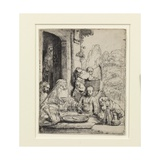 Abraham Entertaining the Angels Giclee Print by  Rembrandt van Rijn