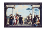 The Arrival of Henri III at the Villa Contarini, before 1750 Giclee Print by Giovanni Battista Tiepolo