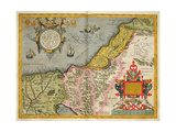 Palestine and the Promised Land, from the 'Theatrum Orbis Terrarum', 1603 Impressão giclée por Abraham Ortelius