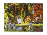 The Garden by the Sea Giclee Print by Thomas Edwin Mostyn