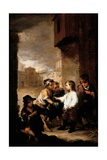 Saint Thomas of Villanueva Dividing His Clothes Among Beggar Boys, C.1667 Giclee Print by Bartolome Esteban Murillo