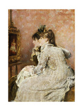 Admiring the Portrait, 1879 Giclee Print by Alfred Emile Léopold Stevens