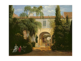 Garden in a Courtyard Giclee Print by Etienne Bouhot