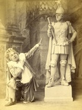 The Statue and Sganarelle, from a Production of 'La Statue Du Commandeur' or 'Don Juan Up to… Photographic Print by Alfred Ellis