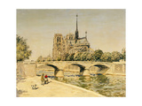 Notre Dame and the Seine Giclee Print by Jean Francois Raffaelli