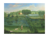 Country House Scene with Deer and Arboretum Giclee Print by Balthasar Nebot