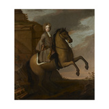 Portrait of a Young Boy on Horseback, C.1680s-90s Giclee Print by Michael Dahl