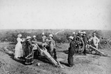Gun Drill', Nagpore Fort, 1870s Photographic Print by Willoughby Wallace Hooper